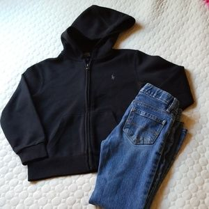 Polo Ralph Lauren hoddie worn only once size 6